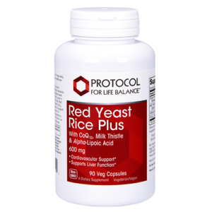 Red Yeast Rice Plus 600 mg With CoQ10, Milk Thistle & Alpha-Lipoic Acid