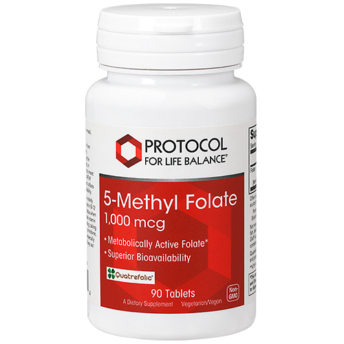 5-Methyl Folate, 1,000 mcg