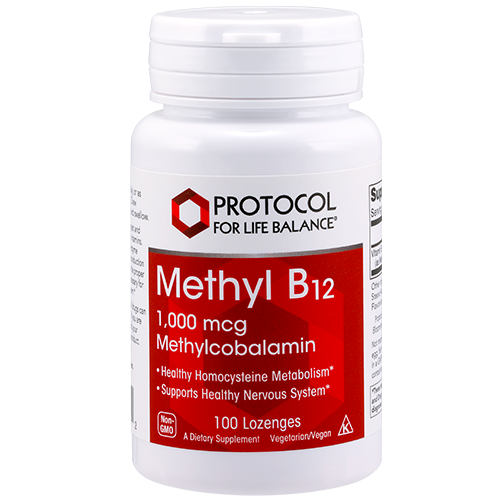 Methyl B12 (Methylcobalamin), 1,000 mcg