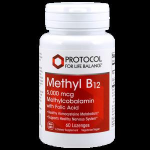 Methyl B12 (Methylcobalamin), 5,000 mcg