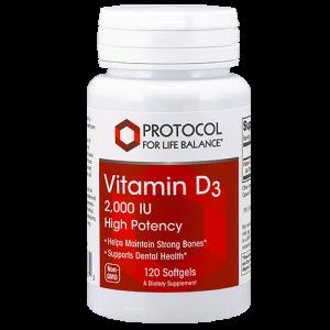 Vitamin D3, 2,000 IU